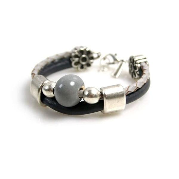 Náramek Ring Stone, černý