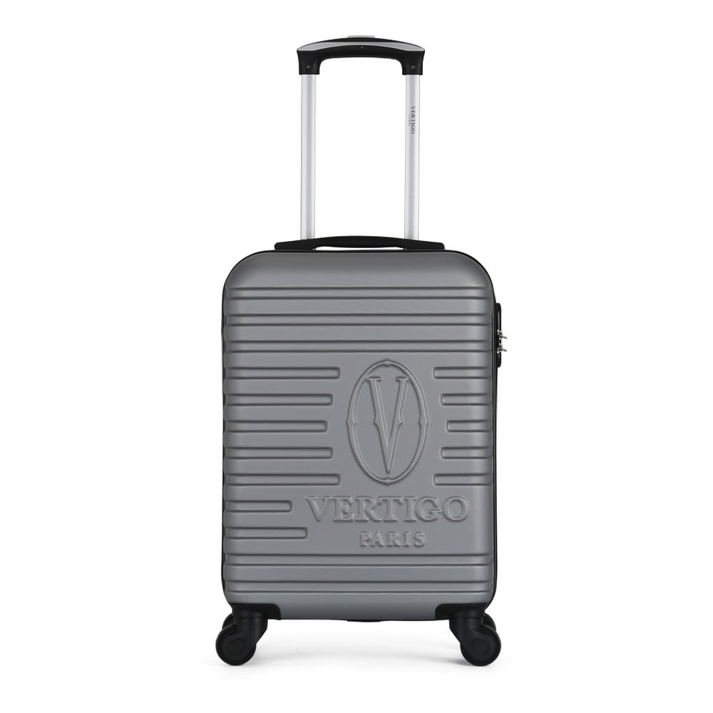 Šedý cestovní kufr na kolečkách VERTIGO Valises Cabine Cadenas
