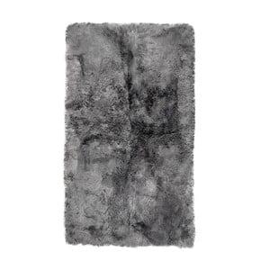 Covor dreptunghiular din blană cu fir scurt Grey Brisa, 165x100 cm