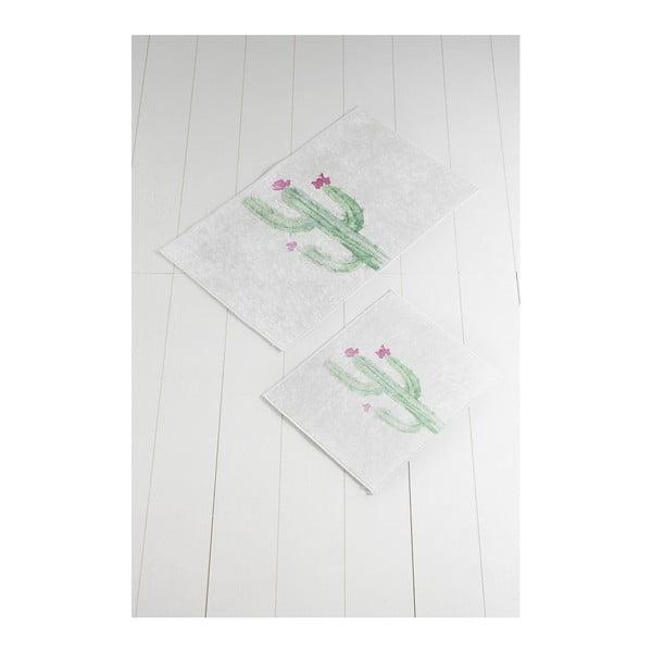 Tropica Cactus III 2 db fehér-zöld fürdőszobai kilépő