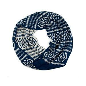 Kruhová šála Indian Blue
