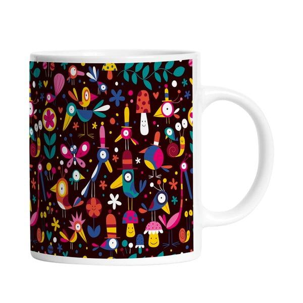 Keramický hrnek Colorful Birds, 330 ml