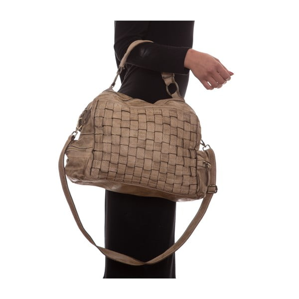Kožená kabelka Mangotti 0004, kámen
