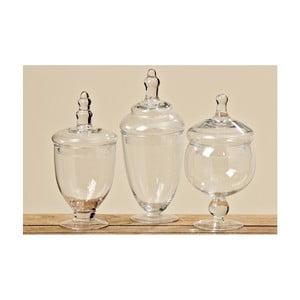 Set 3 vase din sticlă cu capac Boltze Kia