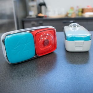 Svačinový box Compleat Optimal, modrý/červený