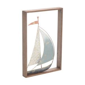 Nástěnná dekorace ve tvaru lodi InArt, 26 x 40 cm