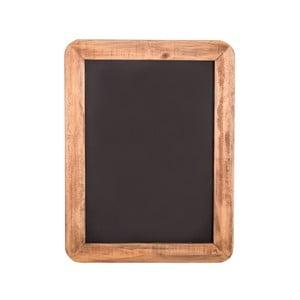 Plăcuţă decorativă cu cadru din lemn Antic Line, 28 x 20,5 cm, negru