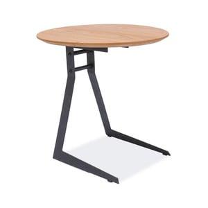 Odkládací stolek s konstrukcí z černě lakované oceli Signal Vico, ⌀45cm