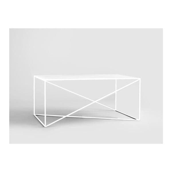 Memo fehér dohányzóasztal, hosszúság 100 cm - Custom Form