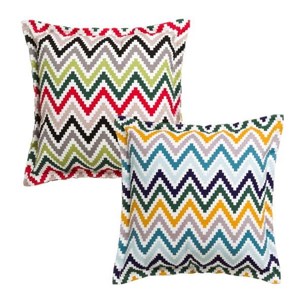 Sada 2 barevných polštářů Unimasa Coco, 45 x 45 cm