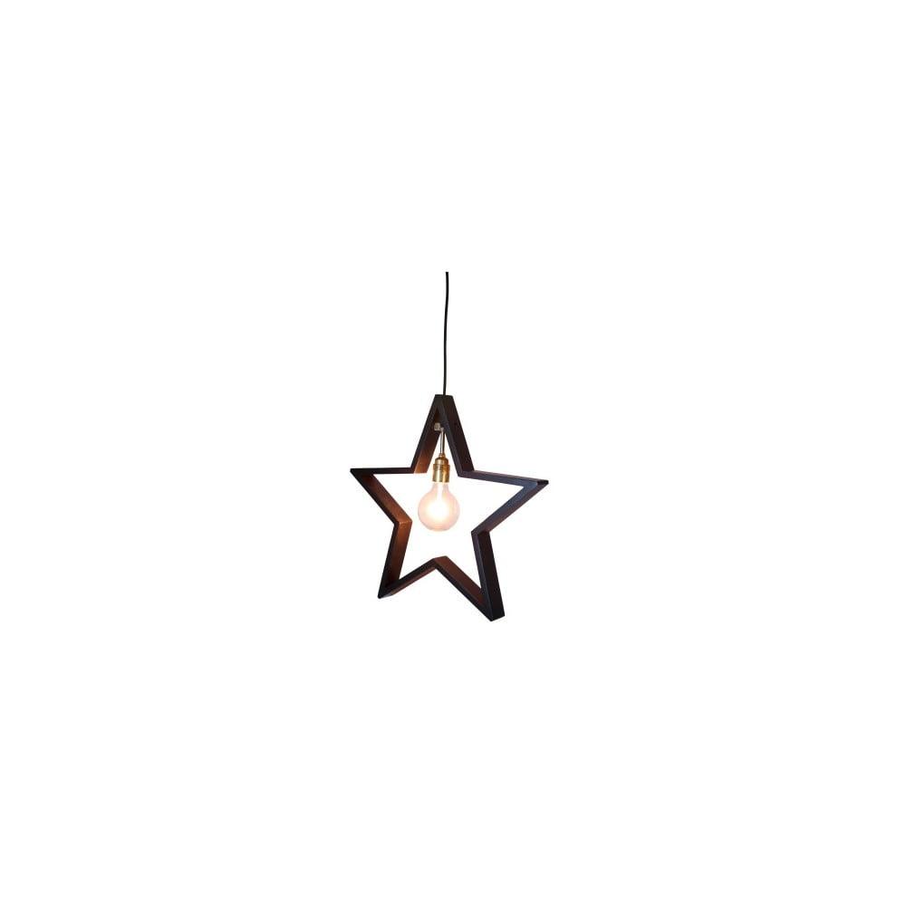 Závěsná svítící hvězda Best Season Hanging Brown