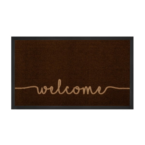 Covor Hanse Home Welcome, 45 x 75 cm, maro