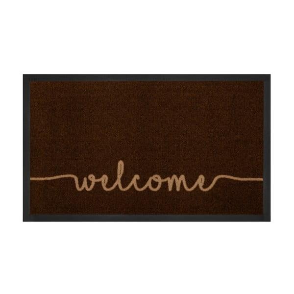 Hnědá rohožka Hanse Home Welcome, 45 x 75 cm