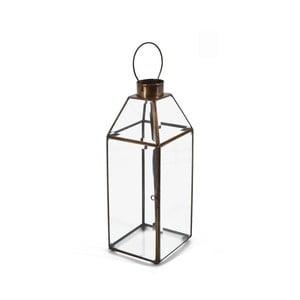 Skleněná lucerna s kovovým rámem Moycor Long