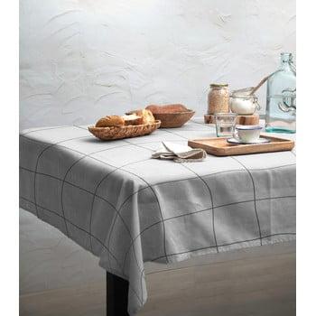 Față de masă Linen Couture Green Lines, 140 x 140 cm imagine