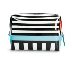 Kosmetická taška Remember Black Stripes, velká