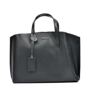 Černá kožená kabelka Luisa Vannini Theresse
