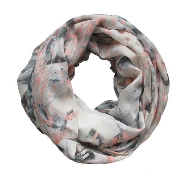 Vlněný šátek s kašmírem Lotus Peach, 130 cm
