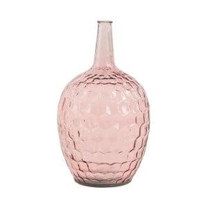 Růžová skleněná váza VICAL HOME, ⌀ 28 cm