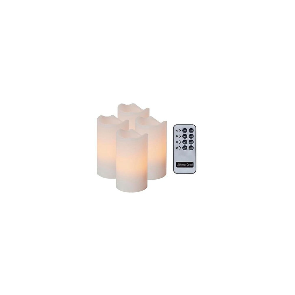 sada 4 led sv ek s d lkov m ovlada em best season white wachs bonami. Black Bedroom Furniture Sets. Home Design Ideas