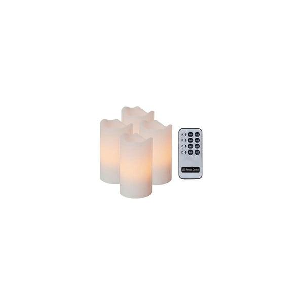 Sada 4 LED svíček s dálkovým ovladačem Best Season White Wachs
