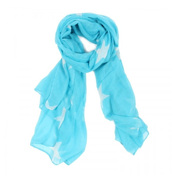 Šátek Starlight Turquoise&White