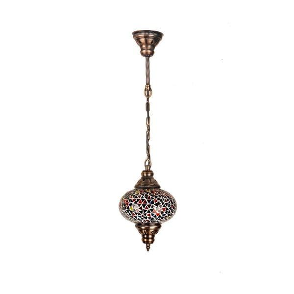 Skleněná ručně vyrobená závěsná lampa Nina, ⌀17 cm