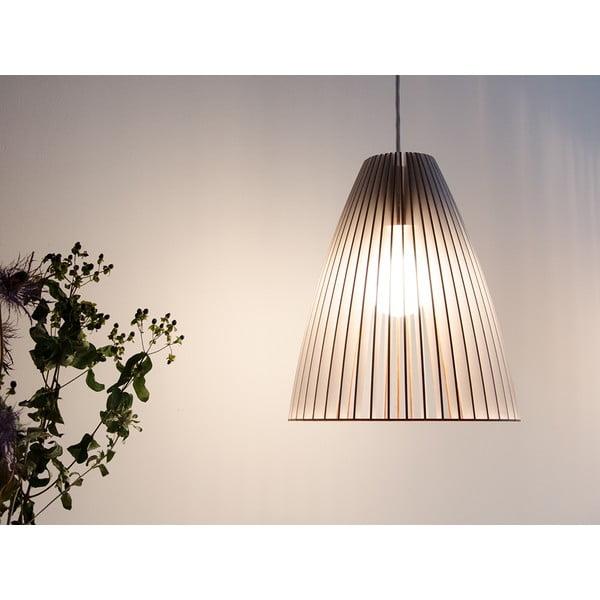 Svítidlo Teia - odstín natur, černý kabel
