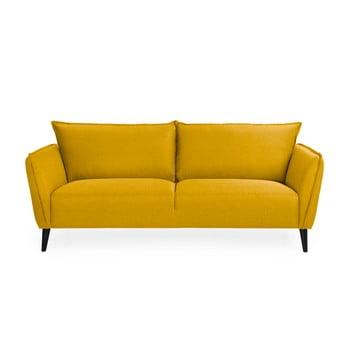 Canapea 3 locuri Softnord Malmo, galben de la Softnord