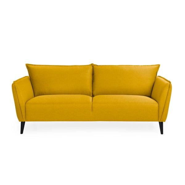 Malmo sárga háromszemélyes kanapé - Softnord