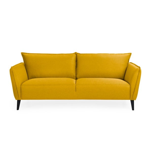 Żółta sofa 3-osobowa Softnord Malmo
