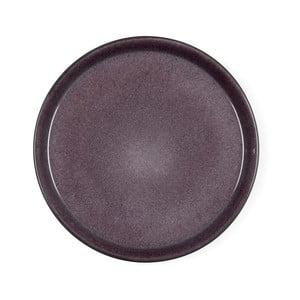 Švestkově fialový kameninový mělký talíř Bitz Mensa, průměr 27 cm