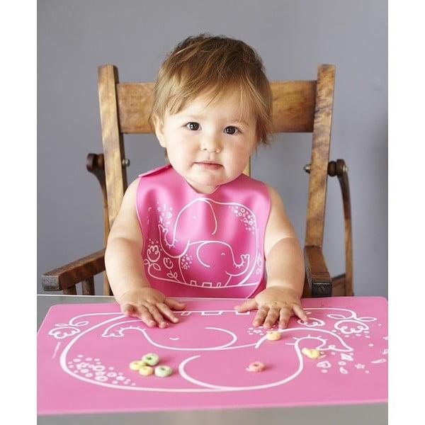 Dětský bryndáček Farm Buddies, pink