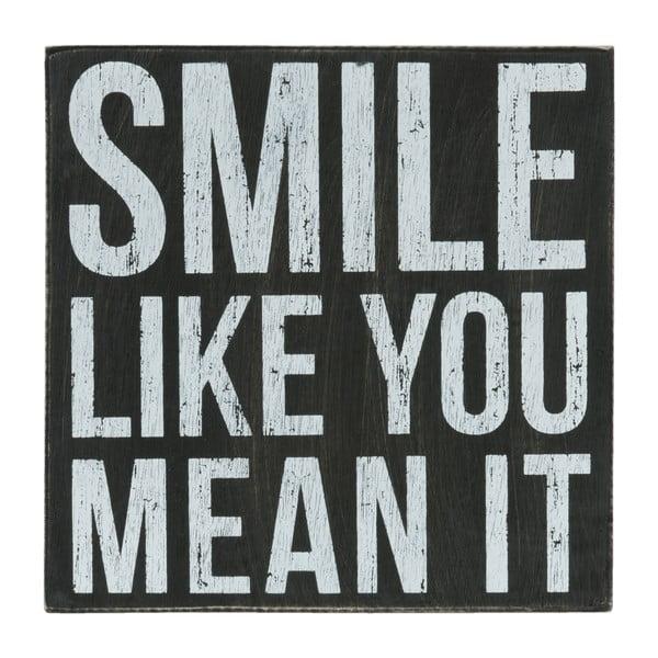Nástěnná cedule Smile