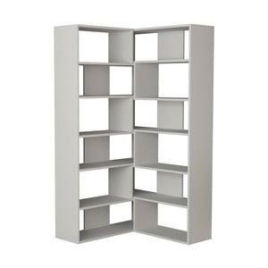 Bílá rohová knihovna Molly N 4 White