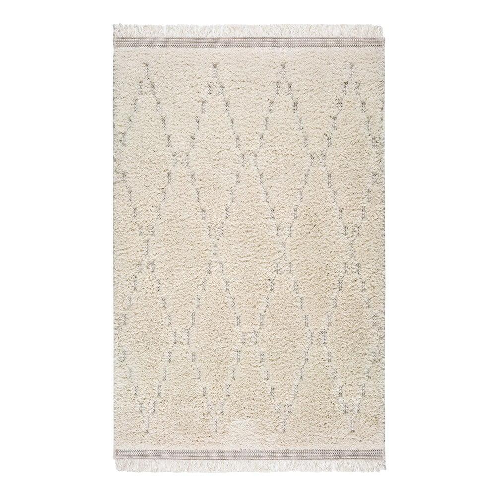 Bílý koberec Universal Kai Geo, 57 x 115 cm