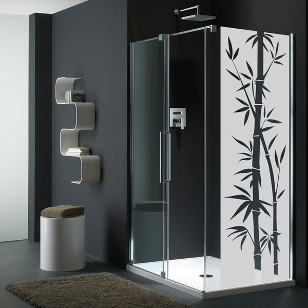 Autocolant rezistent la apă, pentru cabina de duș, Ambiance Bamboo