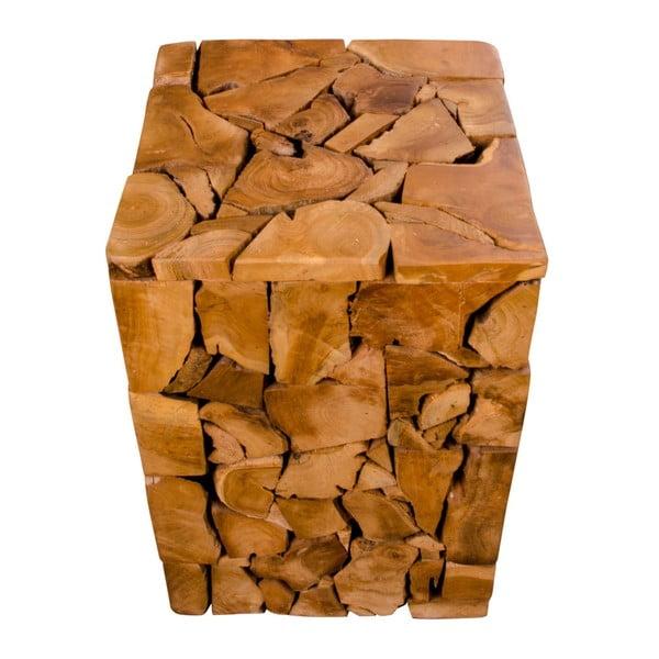 Stolička z teakového dreva House Nordic Mosaic