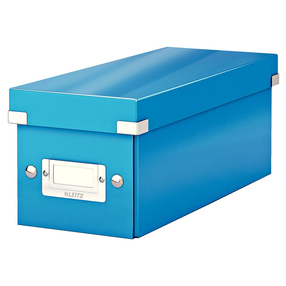 Modrá úložná krabice s víkem Leitz CD Disc, délka 35 cm