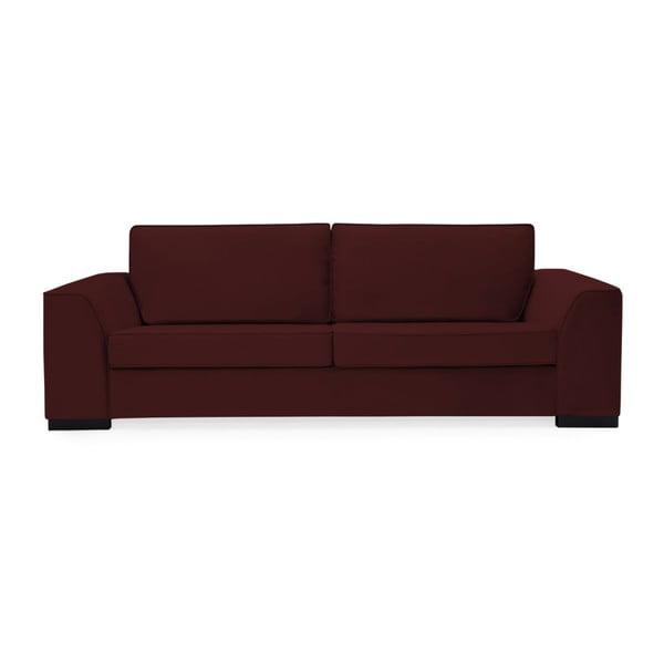 Canapea cu 3 locuri Vivonita Bronson, vişiniu