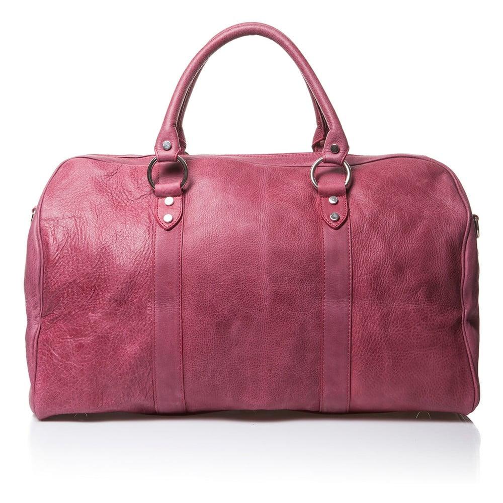 Růžová kožená cestovní taška Medici of Florence Seconda