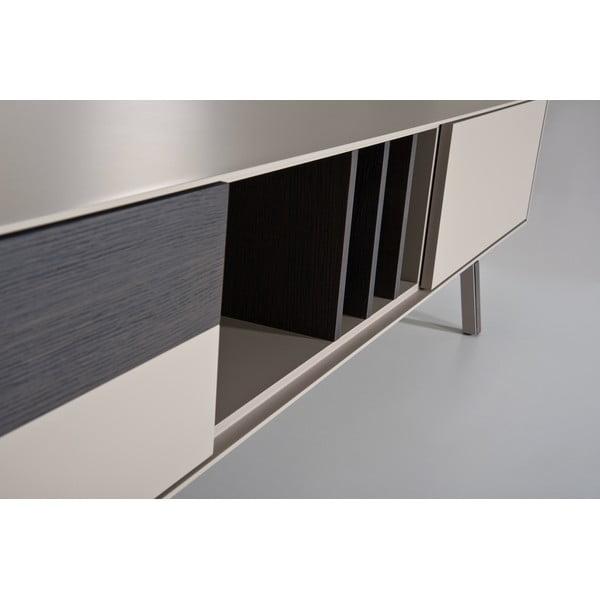 Televizní stolek Vintme AL2, 240cm, béžová/dub