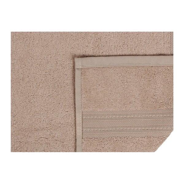 Hnědá osuška z bavlny a bambusového vlákna Lavinya, 70x140cm