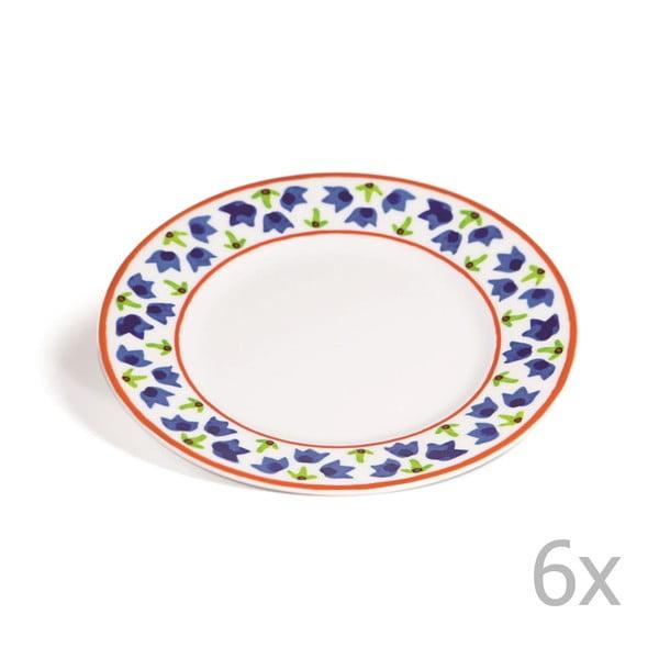 Sada 6 dezertních talířů Toscana Gimignano, 21.5 cm