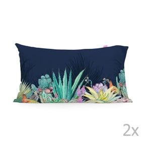 Sada 2 bavlněných povlaků na polštář Happy Friday Cactus,50x80cm