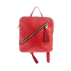 Červený kožený batoh Tina Panicucci Helga