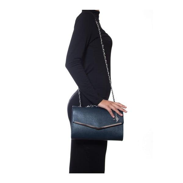 Kožená kabelka Luisa Vannini 420 Blu