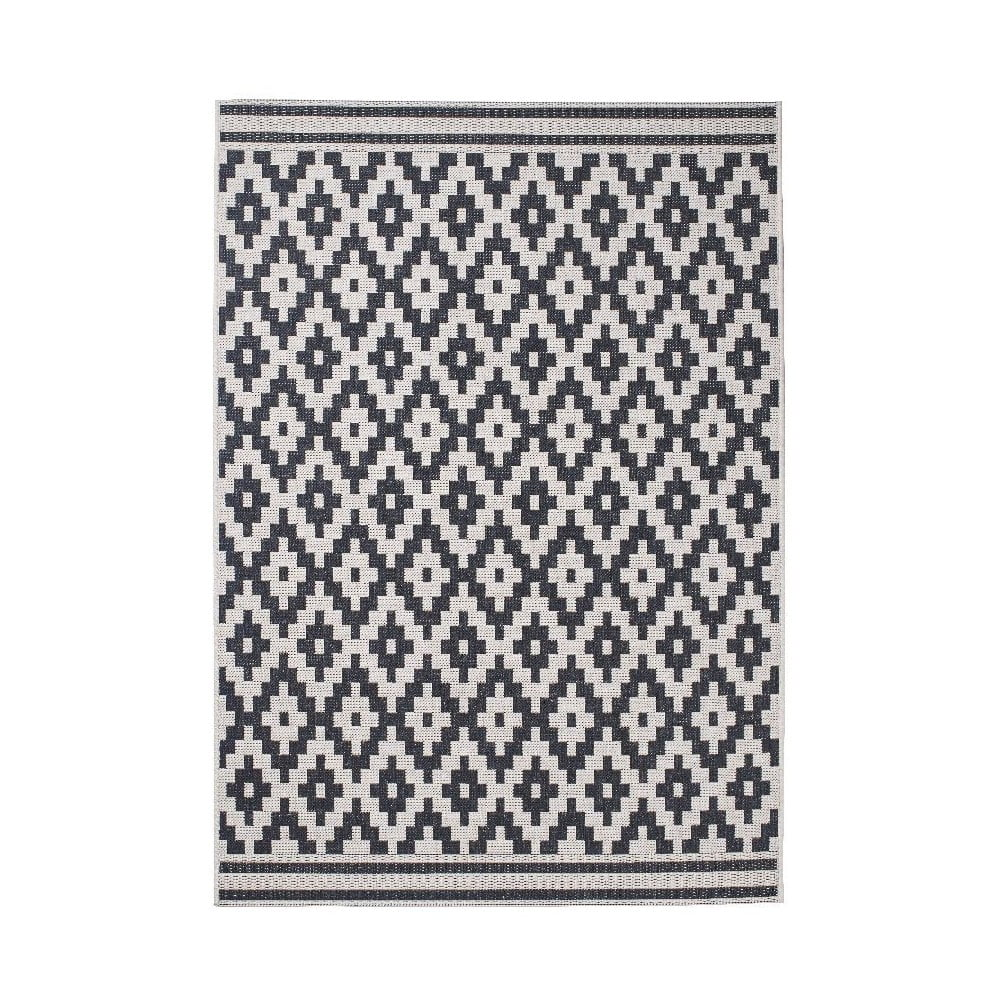 Černý koberec Think Rugs Cottage 120 x 170 cm