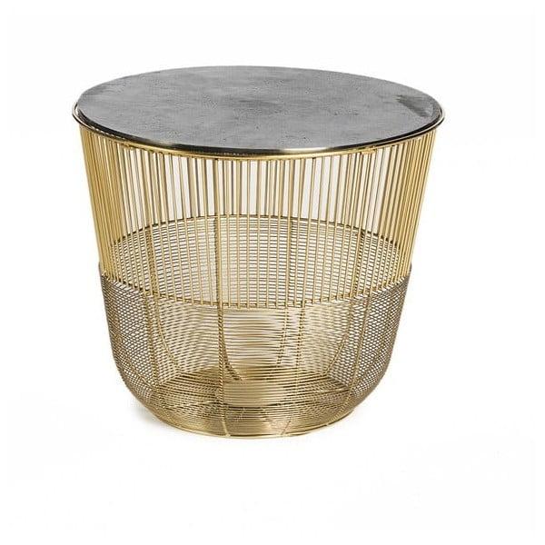 Circle aranyszínű dohányzóasztal, ⌀ 38 cm - Simla