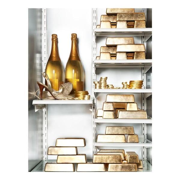 Samolepka na lednici Gold
